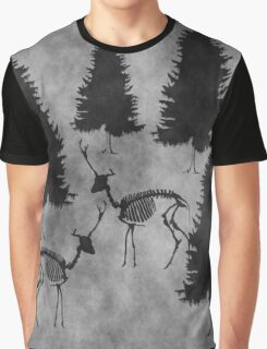 Dark Foggy Winter Scene Graphic T-Shirt