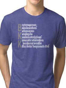 Bangkok city BKK typographic design Tri-blend T-Shirt