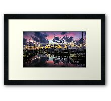 A Postcard Sunset Framed Print