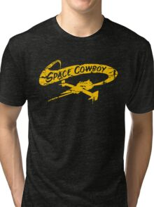 Space Cowboy - Distressed Yellow Tri-blend T-Shirt