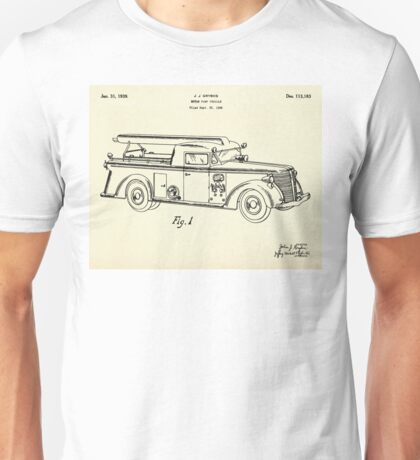 Motor Pump Vehicle-1939 Unisex T-Shirt