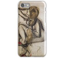 Edgar Degas - Woman Combing Her Hair iPhone Case/Skin