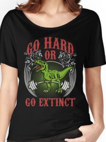 Go Hard or Go Extinct (Deadlift T-Rex) Vintage Women's Relaxed Fit T-Shirt