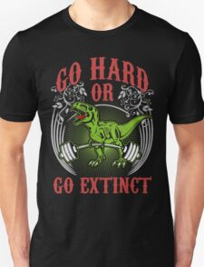 Go Hard or Go Extinct (Deadlift T-Rex) Vintage Unisex T-Shirt