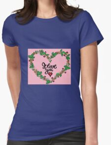 I love you heart Womens Fitted T-Shirt