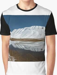 Sibillini mountains reflected in the water with snow Graphic T-Shirt