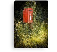 English Royal Mail postbox Canvas Print