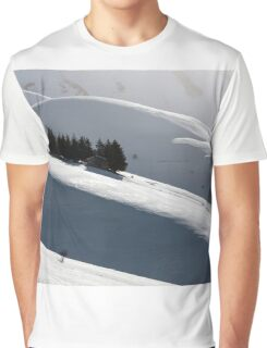 Small house with trees around in a winter landscape Graphic T-Shirt