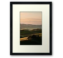 Sunrise in Val d'Orcia, Tuscany Framed Print