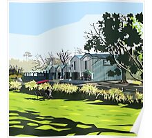 Antigua Boatshed, Christchurch  Poster