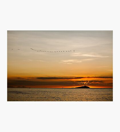 Sunset by the sea Photographic Print