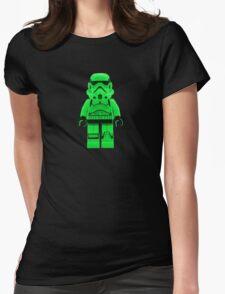 Luminous Green Lego Storm Trooper Womens Fitted T-Shirt