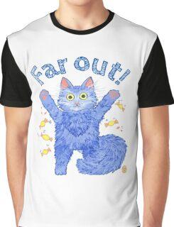 Blue Cat 'Far Out' Graphic T-Shirt
