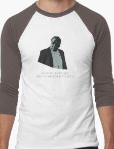 Don't Hate Dutiful Carson Men's Baseball ¾ T-Shirt