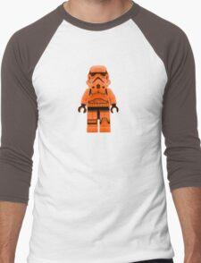 Orange Lego Storm Trooper Men's Baseball ¾ T-Shirt