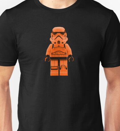 Orange Lego Storm Trooper Unisex T-Shirt
