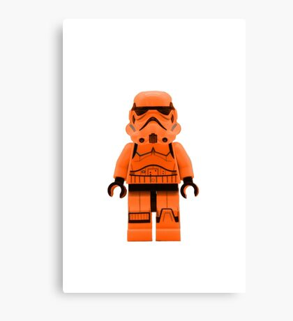 Orange Lego Storm Trooper Canvas Print
