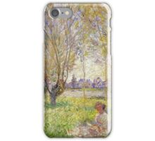 Claude Monet - Woman Sitting Under The Willows iPhone Case/Skin