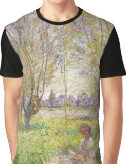 Claude Monet - Woman Sitting Under The Willows Graphic T-Shirt