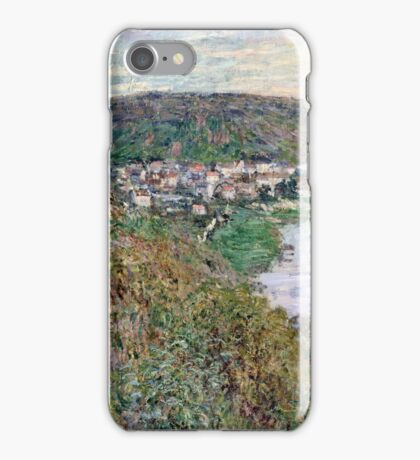 Claude Monet - View of Vetheuil (1880)  iPhone Case/Skin