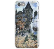 Claude Monet - Vetheuil The Church 1 iPhone Case/Skin