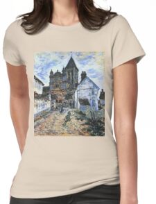 Claude Monet - Vetheuil The Church 1 Womens Fitted T-Shirt