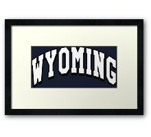Wyoming Classic WY Framed Print