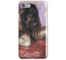 Edvard Munch - Weeping Nude iPhone Case/Skin