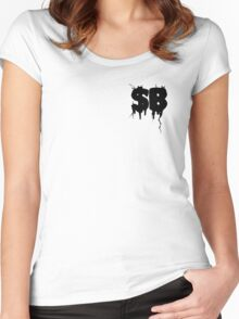 $B Women's Fitted Scoop T-Shirt