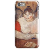 Edvard Munch - Rose And Amelie 1894 iPhone Case/Skin