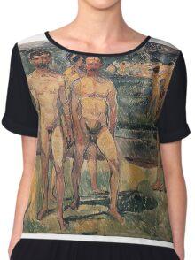 Edvard Munch - Bathing Men 1907 Chiffon Top