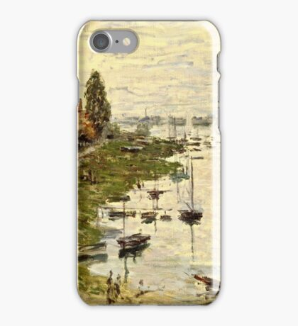 Claude Monet - The Port Of Argenteuil (Le Bassin De Argenteuil) 1874  iPhone Case/Skin