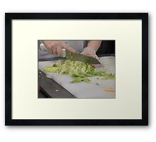 Chopping Vegetables Framed Print