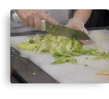 Chopping Vegetables Canvas Print