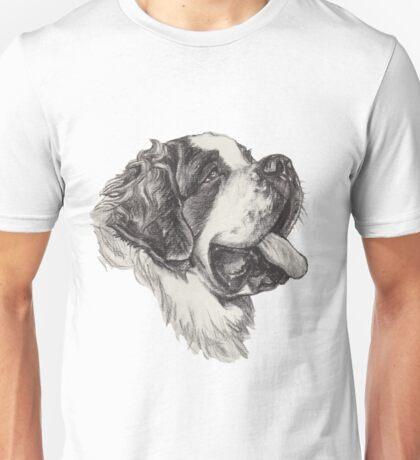 Saint Bernard Dog Portrait Unisex T-Shirt