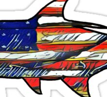 USA Flag Tarpon  Sticker