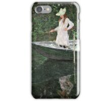 Claude Monet - The Boat At Giverny 1887  iPhone Case/Skin