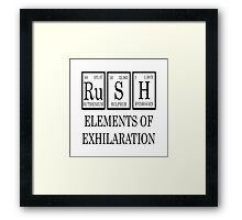 RUSH Elements Of Exhilaration Periodic Table Tee Framed Print