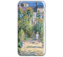 Claude Monet - The Artists Garden At Vetheuil (1880)  iPhone Case/Skin