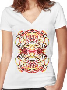 Glyph 38 Women's Fitted V-Neck T-Shirt