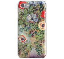 Claude Monet - Stilll Life With Anemones iPhone Case/Skin