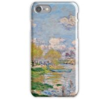 Claude Monet - Spring by the Seine ( 1875)  iPhone Case/Skin