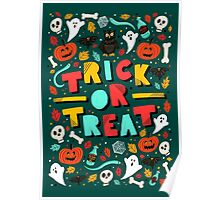 Trick or Treat Halloween Illustration Poster