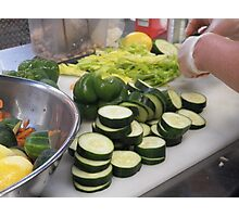 Sliced Cucumbers Photographic Print
