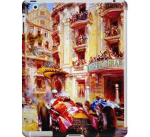 MONACO GRAND PRIX ;Vintage Auto Racing Painting iPad Case/Skin