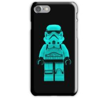 Turquoise Blue Lego Storm Trooper iPhone Case/Skin