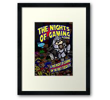 The Nights of gaming poster Framed Print