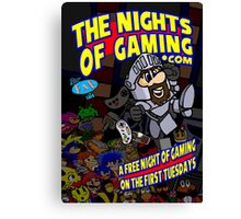 The Nights of gaming poster Canvas Print