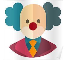 Clown Face Icon Poster