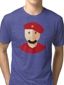 Red Communist Man Icon Tri-blend T-Shirt